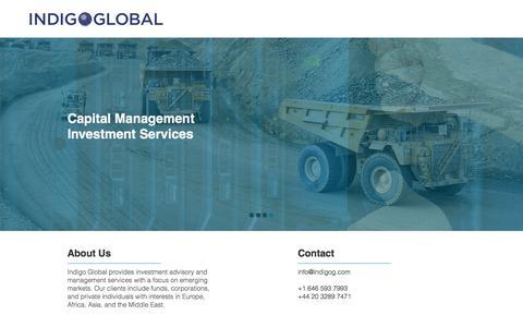 Screenshot of Home Page indigog.com - Indigo Global - captured Feb. 10, 2016