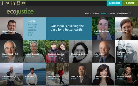 Screenshot of Team Page ecojustice.ca - People | Ecojustice - captured July 15, 2017