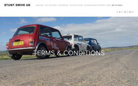 Screenshot of Terms Page stuntdriveuk.com - Stunt Drive UK - captured Nov. 11, 2017