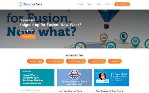 Screenshot of Blog bedrockdata.com - (2) New Messages! - captured July 10, 2018