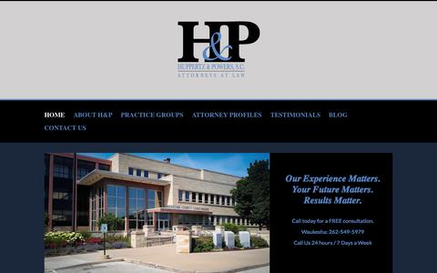 Screenshot of Home Page waukeshacriminalattorneys.com - Let an Experienced Waukesha Criminal Defense Attorney Help your Case - captured Jan. 23, 2015