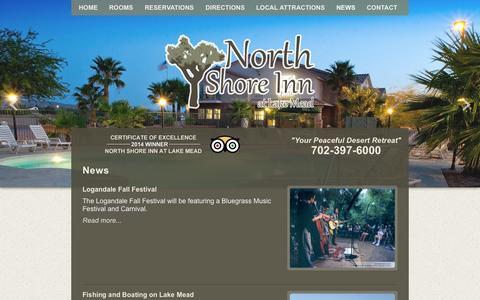 Screenshot of Press Page northshoreinnatlakemead.com - North Shore Inn at Lake Mead - News - captured Sept. 30, 2014