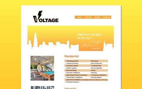 Screenshot of Services Page pure-voltage.com - Pure-Voltage Electricians - Services - captured Feb. 2, 2016