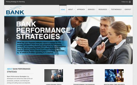 Screenshot of Home Page bank-ps.com - Bank Performance Strategies - Bank Performance Strategies - captured Oct. 5, 2014