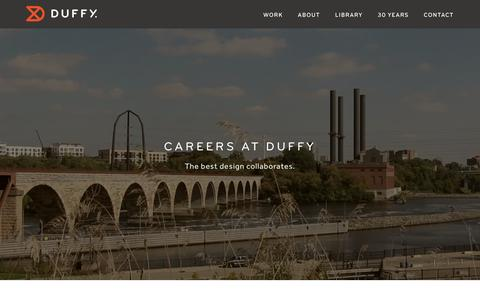 Screenshot of Jobs Page duffy.com - Careers | Duffy - captured Feb. 9, 2016