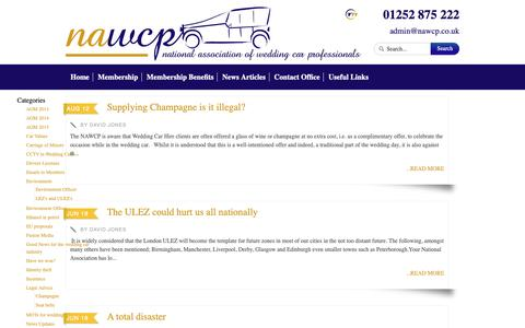 Screenshot of Blog nawcp.co.uk - News Articles - National Association of Wedding Car ProfessionalsNational Association of Wedding Car Professionals - captured Oct. 25, 2018