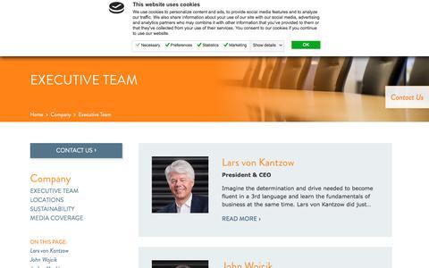 Screenshot of Team Page nomaco.com - Nomaco Executive Team - captured Sept. 20, 2018