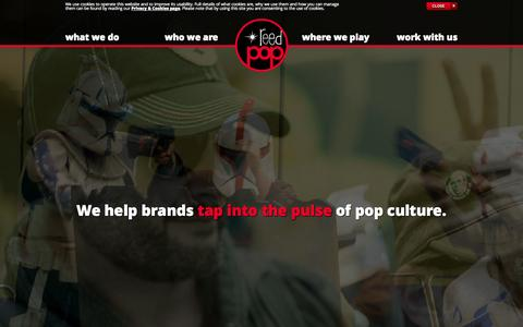 Screenshot of Home Page reedpop.com - Home - ReedPOP - A Quirky Offshoot of Reed Exhibitions - captured Sept. 22, 2014