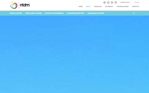 Screenshot of About Page ntdm.pt - About - NTDM Specialized Tourism - captured Oct. 6, 2014