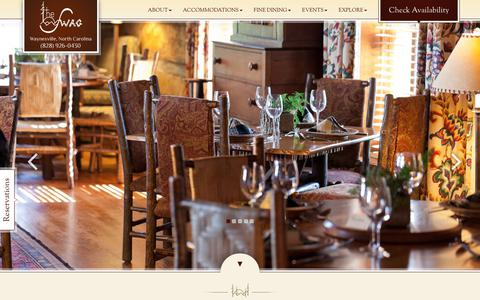 Screenshot of Menu Page theswag.com - Award-winning NC Restaurant   Smoky Mountains Fine Dining - captured July 2, 2018