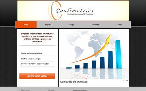 Screenshot of Home Page qualimetrics.com.br - Qualimetrics Qualidade Laboratorial e Estatística - captured July 19, 2018