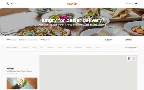 Food Delivery - Orange County Restaurants | Caviar
