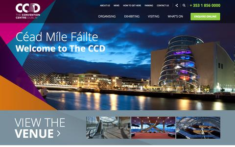 Screenshot of Home Page theccd.ie - The Convention Centre Dublin - captured Jan. 27, 2015