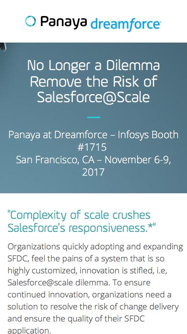 Remove the Risk of Salesforce@Scale with Panaya Release Dynamix