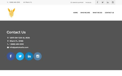 Screenshot of Contact Page paktolusits.com - Contact Us – Paktolus ITS - captured Jan. 24, 2016