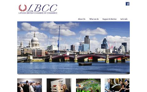 Screenshot of Home Page latvianchamber.co.uk - Latvian British Chamber of Commerce - captured Oct. 6, 2014