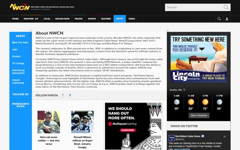 Screenshot of About Page nwcn.com - NWCN.com | Programs and Information about NorthWest Cable News - captured Sept. 22, 2014