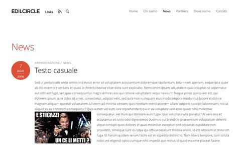 Screenshot of Press Page edilcircle.it - News – Edilcircle - captured Oct. 26, 2016