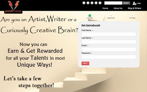 Screenshot of Signup Page punchtantra.com - Punchtantra - captured May 24, 2017