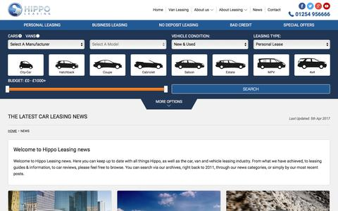 Screenshot of Press Page hippoleasing.co.uk - Find Out What's Going On At Hippo Leasing | Hippo Leasing Blog & News - captured June 30, 2017