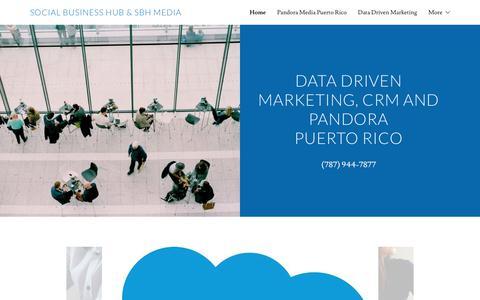 Screenshot of Home Page socialbusinesshub.com - Social Business Hub - crm, data driven marketing, digital media - captured Jan. 26, 2018