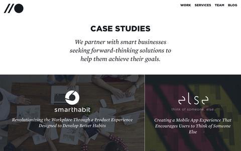 Screenshot of Case Studies Page lacroixdesign.net - Web Design and Web Development Case Studies | LaCroix Design Co. - captured Dec. 13, 2018