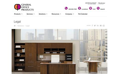 Screenshot of Terms Page gopco.com - Legal - General Office Products | office furniture for Minneapolis, St. Paul, St. Cloud, Mankato, Minnesota - captured Nov. 4, 2016