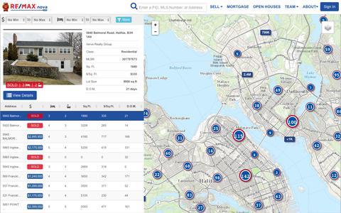 Screenshot of Maps & Directions Page remaxnova.com - Remap - captured Nov. 9, 2017