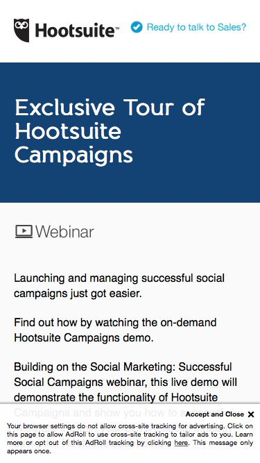 Exclusive Tour of Hootsuite Campaigns