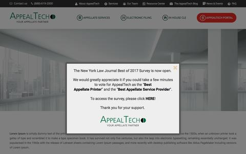 Screenshot of Privacy Page appealtech.com - Privacy Policy - AppealTech - Your Appellate Partner - captured May 30, 2017