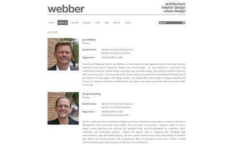 Screenshot of Team Page webberarchitects.com - Webber Architects » People - captured Nov. 19, 2018