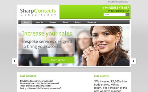 Screenshot of Home Page sharpcontacts.co.uk - Home | Sharp Contacts - captured Oct. 9, 2014