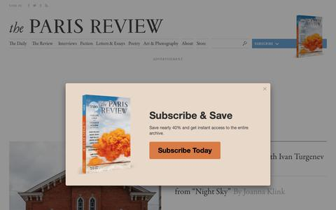 Screenshot of Home Page theparisreview.org - Paris Review - Writers, Quotes, Biography, Interviews, Artists - captured Oct. 19, 2018