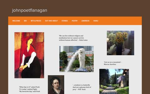 Screenshot of Home Page johnpoetflanagan.com - johnpoetflanagan - captured Sept. 4, 2015