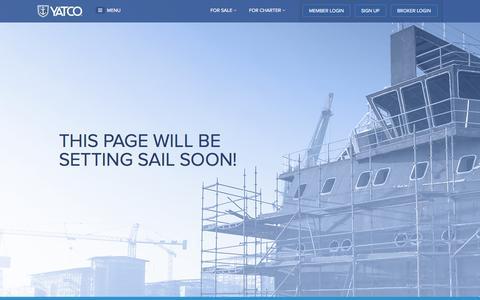 Screenshot of Press Page yatco.com - Coming Soon - captured Nov. 2, 2014