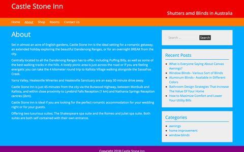 Screenshot of About Page castlestoneinn.com.au - About - Castle Stone Inn - captured Oct. 31, 2018