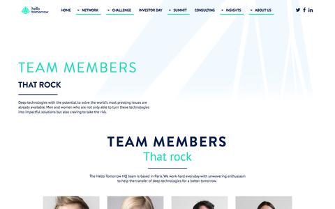 Screenshot of Team Page hello-tomorrow.org - Hello Tomorrow - About us - captured June 20, 2018