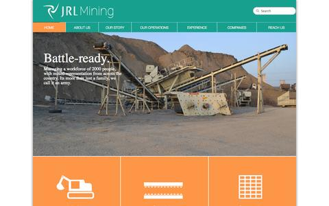 Screenshot of Home Page jrlmining.com - JRL MINING - captured Sept. 30, 2014