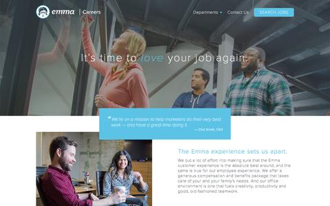 Screenshot of Jobs Page myemma.com - Emma Email Marketing - captured Jan. 4, 2017