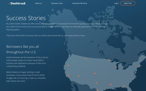 Screenshot of Case Studies Page dealstruck.com - Success Story - Dealstruck - captured Oct. 21, 2016