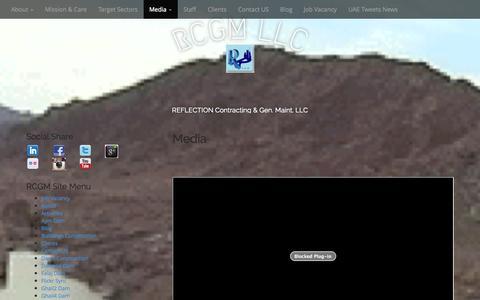 Screenshot of Press Page reflectionllc.com - Media | RCGM LLC - captured Nov. 5, 2014