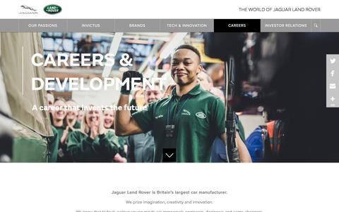Screenshot of Jobs Page jaguarlandrover.com - CAREERS & DEVELOPMENT | Jaguar Land Rover - captured June 28, 2019