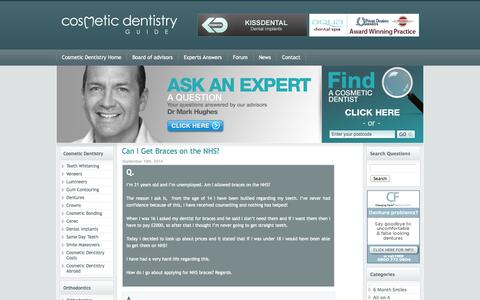 Screenshot of Blog cosmeticdentistryguide.co.uk - Cosmetic Dentistry Guide Expert Answers Blog - captured Sept. 22, 2014