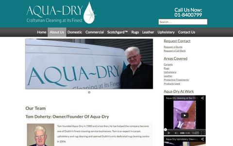 Screenshot of Team Page aqua-dry.com - Carpet Cleaning | Dublin Carpet Cleaning | Aqua-Dry Carpet Cleaning - captured Oct. 4, 2014
