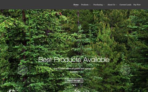 Screenshot of Home Page foxlumber.com - Pallet Stock | Wholesale Lumber | Railroad Ties - Fox Lumber Sales - captured Aug. 17, 2018