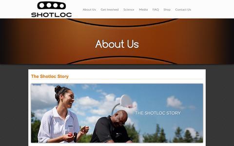 Screenshot of About Page shotloc.com - About Us | Shotloc - captured Feb. 1, 2016