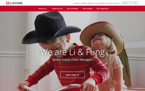 Screenshot of Home Page lifung.com - Li & Fung Limited | Global Supply Chain Managers - captured Feb. 23, 2016
