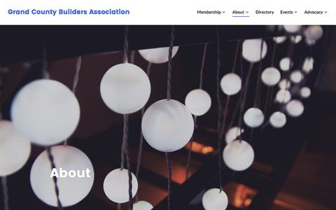Screenshot of About Page wordpress.com - About – Grand County Builders Association - captured Jan. 15, 2017