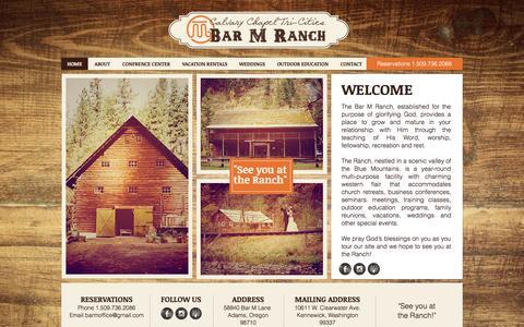 Screenshot of Home Page barmranch.com - bar-m-ranch - captured Oct. 8, 2015