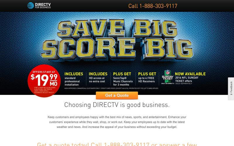 DIRECTV Packages for Business | Official Site | 866-945-9114